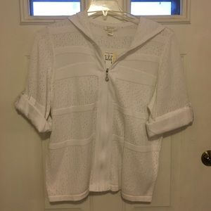 White zipper sweater